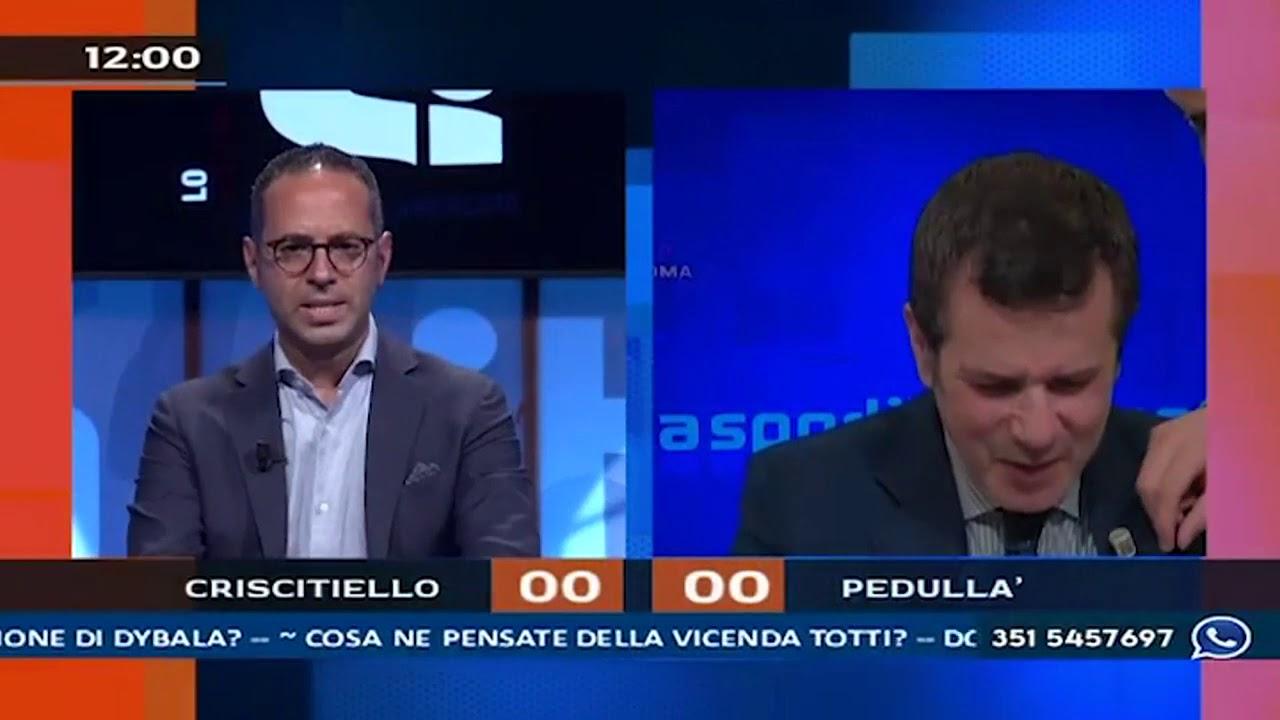 Lite in diretta tra Michele Criscitiello (Sportitalia) e un tifoso del Napoli