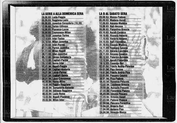I posticipi trasmessi da TELE+2 nel 1993