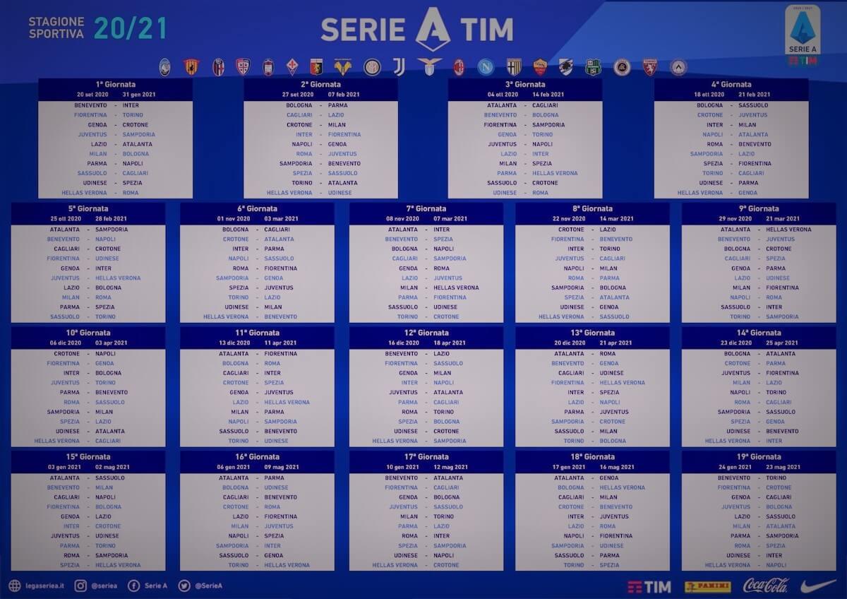 Serie A 2020/2021, anticipi, posticipi e suddivisione Sky Dazn (4