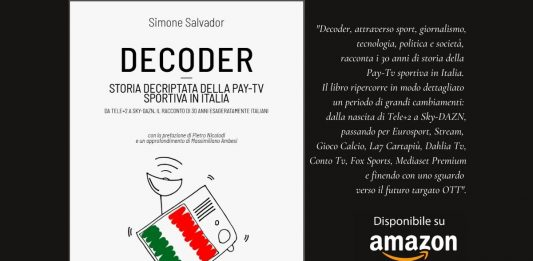 Libro Decoder storia Pay-Tv Sportiva disponibile su Amazon