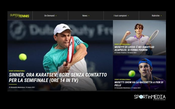 Sinner e Musetti in Tv_Dubai_Acapulco_marzo_2021_Sport in Media